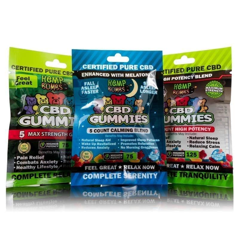 CBD Gummy Sample Pack Hemp Bombs