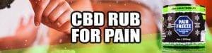 CBD Rub for Pain Hemp Bombs CBD Pain Freeze