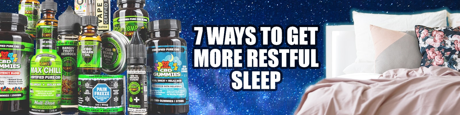 how to get more restful sleep with cbd