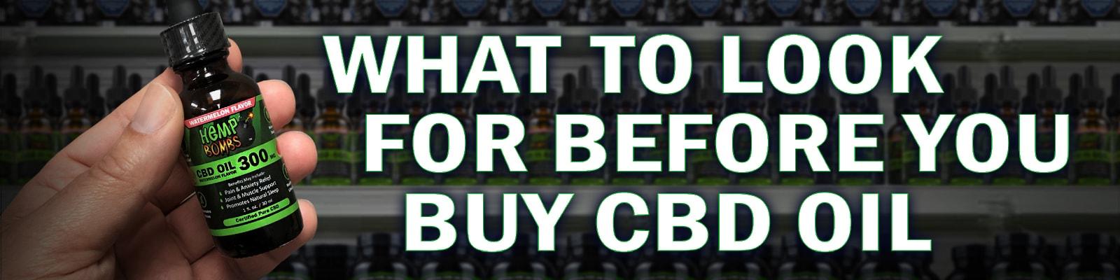 Before You Buy CBD Oil Checklist