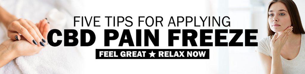 Applying Pain Freeze Gel