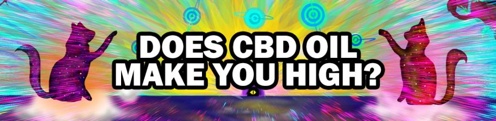 "trippy banner for ""does cbd oil make you high?"" article"