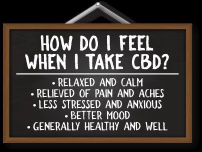 How do I feel afte CBD